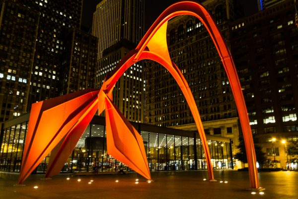 Flamingo Sculpture, Chicago